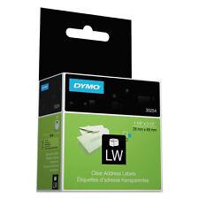 DYMO Address Labels, 3-1/2 x 1-1/8, Clear, 130/Box, BX - DYM30254