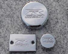 Suzuki GSXR600 GSXR750 GSXR1000 GSXR 600 750 1000 CHROME FLUID CAPS