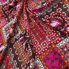 Nylon Lycra Paisley Print fabric four Way Stretch Spandex by yard