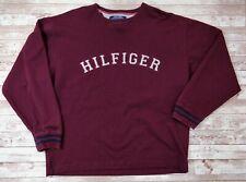VTG 90s TOMMY HILFIGER Spell-Out Crewneck Pullover Sweatshirt Size L