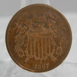 1867 Two Cent Piece 2 Cents 2C Coin C2692