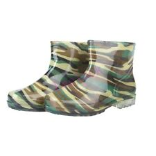 New Camouflage Womens Waterproof jelly glueAnkle Boots Rubber Rain Bootie Shoes