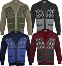 Unbranded Men's Acrylic Button-Front Jumpers & Cardigans
