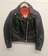 Lewis Leathers Aviakit 1970s Ladies 100% Quality Leather Biker Jacket in size 38