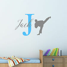 Personalised Karate Kung Fu Wall Sticker Decal Children Boys Nursery Bedroom