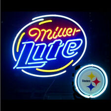 "Miller Lite Green Bay Packers Neon Lamp Sign 20""x16"" Bar Light Beer Glass Decor"