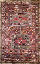 "4'5"" x 7' Unusual Antique Qashqai Oriental Carpet, Great Colors. #16827"