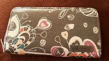 SAKROOTS Artist Circle Shadow SB Large Zip Wallet, New with Tags