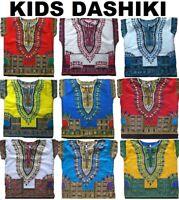 Dashiki T-Shirt Childs Kids Childrens African Traditional Top Tee Boys Girls