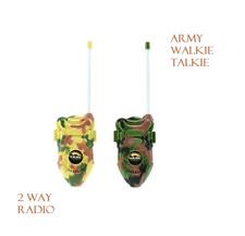 Garçons Militaire Talkie Walkie jeu de rôle soldat armée deux Way Radio pour enfants espion