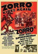 Zorro Rides Again (DVD, 2017)-serial-western-john carroll-desperadoes-christian