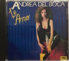 ANDREA DEL BOCA - Te Amo Rare 1989 CD new Nuevo De Coleccion Ya