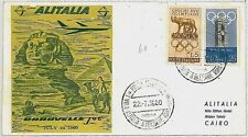 ITALIA storia postale - PRIMI VOLI - catalogo PELLEGRINI 382AA : CAIRO Pyramids