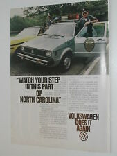 1980 VOLKSWAGEN RABBIT advertisement, VW ad, Rabbit police car