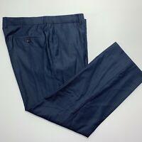 HUGO BOSS Pasini2/Movie Mens Blue Wool Flat Front Dress Pants 40/29