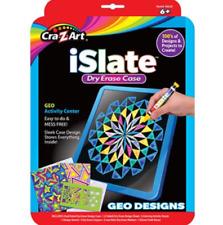 Cra-Z-Art iSlate Dry Erase Case Geo Designs Activity Center Mess Free Age 6+