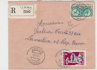 Rep Du Congo 1970 Regd Airmail Jacob Cancels Fungi + Bike Stamps Cover Ref 32494