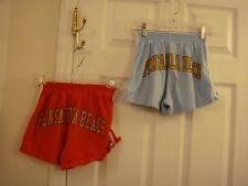 Lot of 2 Girls Tropical Gear Pensacola Beach Blue & Red Short Shorts Size Medium