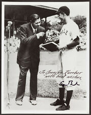 George H.W. Bush Signed Photograph - Yale Photo with Babe Ruth!! Best Wishes!!
