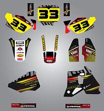 Full  Custom Graphic  Kit -FACTORY STYLE - HONDA CR 80 1996 / 2002 - stickers