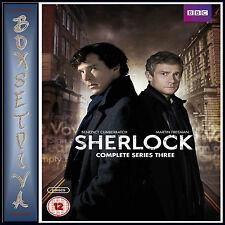 SHERLOCK - COMPLETE BBC SERIES 3 - Benedict Cumberbatch   **BRAND NEW  DVD***