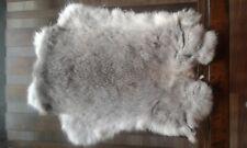 5x Chinchilla Rabbit Skin Fur Pelt for crafts, fabric, animal training,TR10,LARP