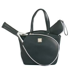 Court Couture Cassanova Black Pebble Tennis Bag (Brand New, Slightly Irregular)