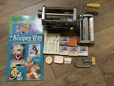 Sculpey Pasta Machine Press & Polymer Modeling Oven Bake Clay Attachments Molds