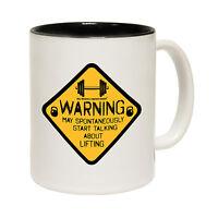 Warning May Start Talking About Lifting Novelty Bodybuilder MUG birthday funny