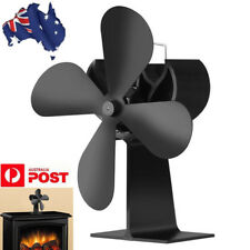 AU! 4 Blades Wood Heater Eco Fan Stove Fireplace Fire Heat Powered Circulating