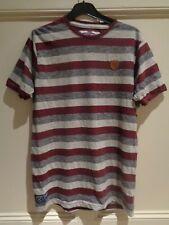 Striped West Ham United Hammers T-Shirt T Shirt Medium