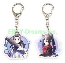 Set of 2 Grandmaster Demonic Mo Dao Zu Anime Acrylic Keychain Lan Wangji Wei v1
