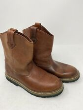 Dan Post John Deere YOUTH Size 3.5 3 1/2 Brown Leather Western Boots