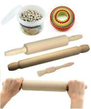 Natural Wooden Rolling Pin Revolving Pastry Brush Ceramic Baking Beans Tools