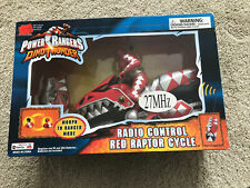 NEW 2003 Bandai Power Rangers DinoThunder Radio Control Red Raptor Cycle