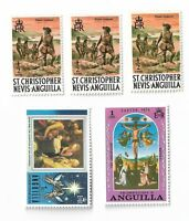 Anguilla postage stamps x 5