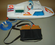 VINTAGE OLD 1970s GERMAN MS TOY BOAT BARRAKUDA BATTERY OPERATED REMOTE CONTROL
