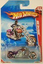 2010 Hot Wheels Purple Orange OCC Splitback Motorcycle Bike Rocket 193/240