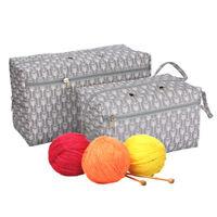 Yarn Storage Bag Organizer with Divider for Crocheting Knitting Organization_ti