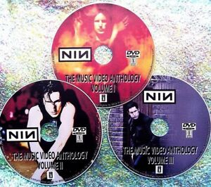NINE INCH NAILS 50 Music Videos Collection 1989-2016 3 DVD Set Trent Reznor