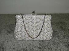 Vintage Ladies Petite Silver Sparkly Detailed Bag/Purse