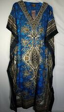 Women's African Caftan Dress Kaftan Hippie Kimono Sleeve Cocktail Maxi Free Size