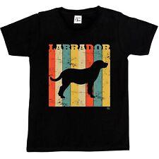 1Tee Labrador Perro Raza Niñas Niños-Colorido Retro T-Shirt