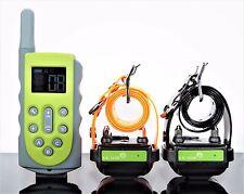 650 Yard Waterproof Rechargeable Remote 2 Dog Training Shock No Bark  Collars