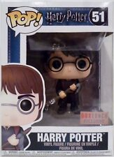 "HARRY POTTER with FIREBOLT Pop 4"" inch Vinyl Figure #51 Box Lunch Exclusive 2017"