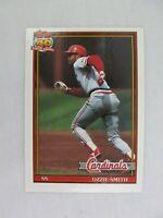 Ozzie Smith St Louis Cardinals 1991 Topps Baseball Card 130