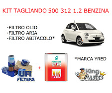 KIT TAGLIANDO 3 FILTRI UFI FIAT 500 DAL 2007 1.2 BENZINA E 4 LT OLIO SELENIA 20K