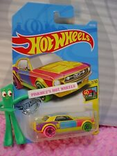 '67 FORD MUSTANG COUPE #218 ☮ yellow/red;pink;Y☮ART CARS☮2019 i Hot Wheels M/N