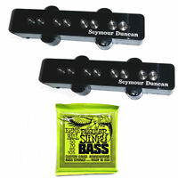 Seymour Duncan SJB-3 Quarter Pound Jazz Bass Pickup Set+Ernie Ball Strings