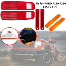 Tail Lamp + Side Marker Light Set Fit for FORD F150 F250 E150 Truck 73-79 Bronco